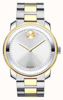 Movado | mens vet | tweekleurige roestvrijstalen armband | 3600431