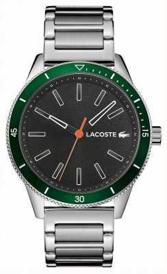 Lacoste | mens key west | roestvrijstalen armband | grijze wijzerplaat | 2011009