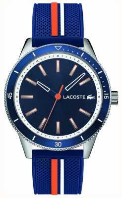 Lacoste | mens key west | blauwe siliconen band | blauwe wijzerplaat | 2011007