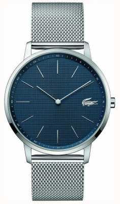 Lacoste mens maan | stalen mesh armband | blauwe wijzerplaat | 2011005