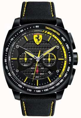 Scuderia Ferrari | mens aero evo | riem zwart materiaal | zwarte wijzerplaat | 0830615