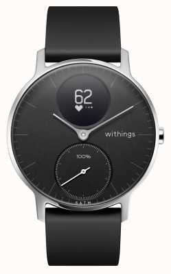 Withings Stalen hr 36 mm zwarte siliconen band HWA03B-36BLACK-ALL-INTER