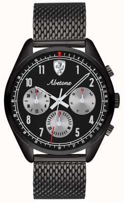 Scuderia Ferrari | mens abetone | zwarte mesh armband | zwarte wijzerplaat | 0830573