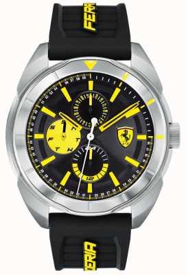 Scuderia Ferrari | heren forza | zwarte rubberen band | zwarte / gele wijzerplaat | 0830575