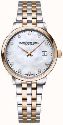 Raymond Weil toccata diamant voor vrouwen | tweekleurig roestvrij staal | 5985-SP5-97081