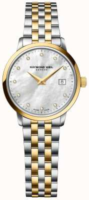 Raymond Weil | toccata diamant voor vrouwen | two tone roestvrij stalen armband 5985-STP-97081