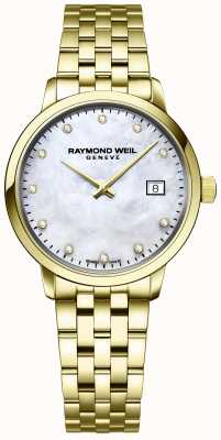 Raymond Weil | toccata diamant voor dames | gouden armband in roestvrij staal | 5985-P-97081