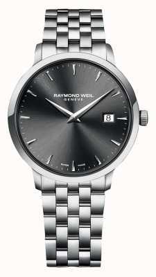 Raymond Weil | mens toccata | roestvrijstalen armband | grijze wijzerplaat | 5485-ST-60001