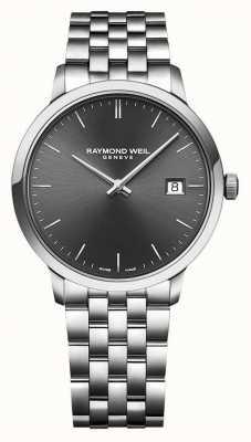 Raymond Weil | heren toccata | roestvrij stalen armband | grijze wijzerplaat | 5485-ST-60001