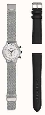 Breil | herenhorloge roestvrij edelstaal | extra leren riem | TW1806
