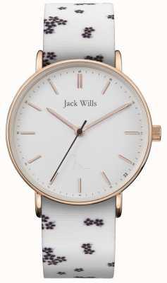 Jack Wills | dames sandhill wit silicium | witte wijzerplaat | JW018FLWH