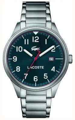 Lacoste | mens continentaal roestvrijstalen armband | blauwe wijzerplaat | 2011022