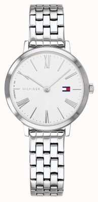 Tommy Hilfiger   dames armband in edelstaal   witte wijzerplaat   1782056
