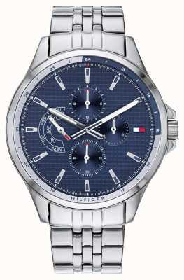 Tommy Hilfiger Shawn | roestvrijstalen armband | blauwe wijzerplaat | ex display model 1791612 EX-DISPLAY