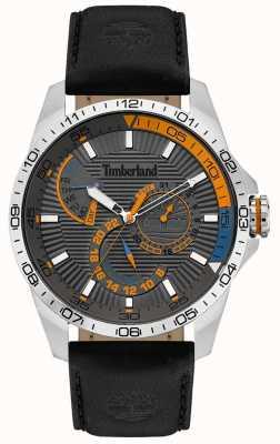Timberland | heren oakham horloge | zwarte leren riem | grijze wijzerplaat | 15641JS/13