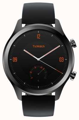 TicWatch C2 | onyx smartwatch | zwart lederen band 130688-WG12036-ONYX