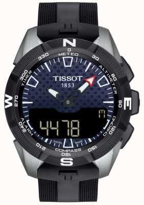 Tissot | mens t-touch expert solar ii | zwarte rubberen riem | T1104204705101