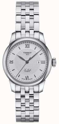 Tissot | le locle dames | roestvrijstalen armband | zilveren wijzerplaat | T0062071103800