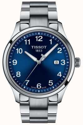 Tissot | mens xl | blauwe wijzerplaat | roestvrijstalen armband | T1164101104700
