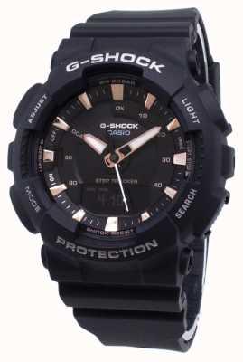 Casio G-shock step tracker zwarte kunststof band GMA-S130PA-1AER