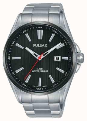 Pulsar | heren roestvrij staal | zwarte wijzerplaat | PS9605X1