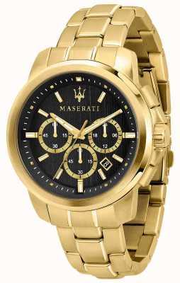 Maserati Successo heren verguld horloge R8873621013