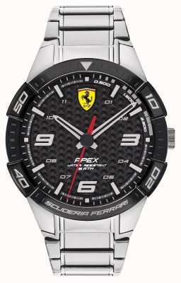 Scuderia Ferrari | heren top | roestvrijstalen armband | zwarte wijzerplaat | 0830641