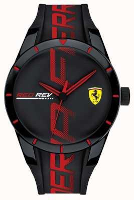 Scuderia Ferrari | heren redrev | zwart / rode siliconen riem | zwarte wijzerplaat | 0830614