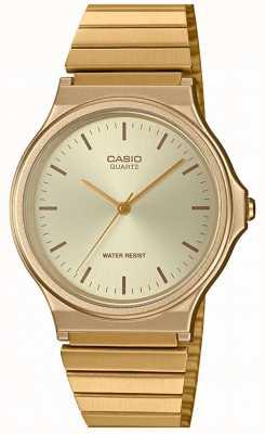 Casio | vintage rond horloge | uitbreidbare armband | gouden wijzerplaat | MQ-24G-9EEF