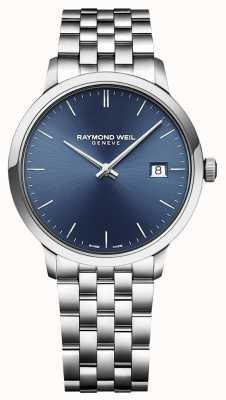 Raymond Weil   mens toccata   klassiek roestvrij staal   blauwe wijzerplaat   5485-ST-50001