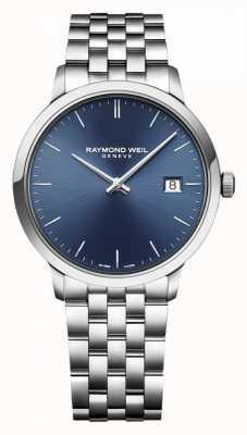Raymond Weil | heren toccata | klassiek roestvrij staal | blauwe wijzerplaat | 5485-ST-50001