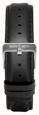 Weird Ape Zwarte lederen 16 mm riem zilveren gesp ST01-000045
