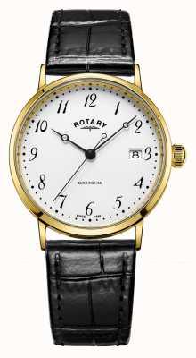 Rotary Horloges herenhorloge van 9 cent goud GS11476/18