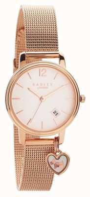 Radley | womens rose goud mesh armband | rose gouden wijzerplaat |