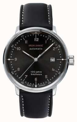 Iron Annie Bauhaus | automatisch | zwarte lederen band | 5056-2