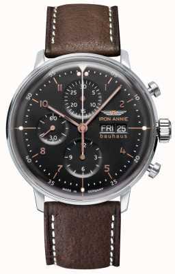 Junkers Iron annie | bauhaus | automatisch | chronograaf | zwarte wijzerplaat 5018-2