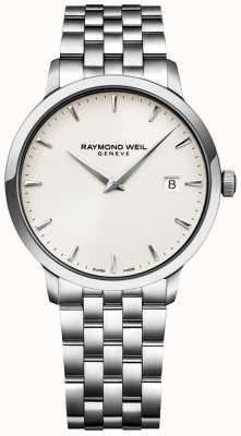 Raymond Weil Heren Toccata horloge crèmekleurige roestvrij stalen armband 5488-ST-40001