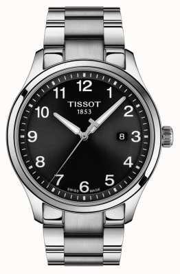 Tissot | mens xl classic | roestvrijstalen armband | zwarte wijzerplaat | T1164101105700