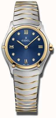 EBEL Sportklassieker voor dames | blauwe wijzerplaat | roestvrij stalen armband 1216446A