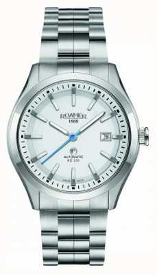 Roamer | automatisch rd100 | roestvrij stalen armband | witte wijzerplaat | 951660 41 25 90
