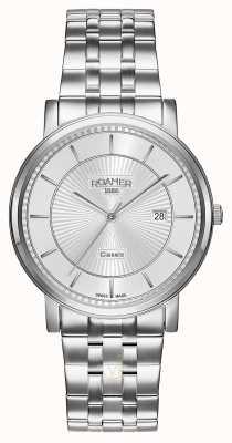 Roamer | klassieke lijn | roestvrij stalen armband | zilveren wijzerplaat | 709856 41 17 70