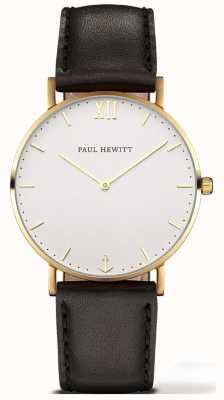 Paul Hewitt | unisex sailor line horloge | zwarte leren riem | 6450854