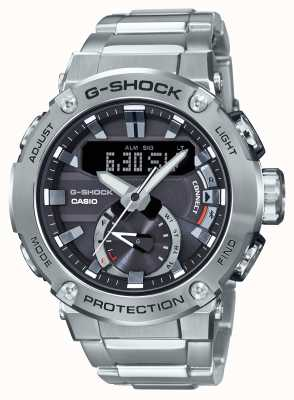 Casio G-staal g-shock bluetooth link 200m roestvrij staal GST-B200D-1AER