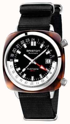 Briston Clubmaster gmt limited edition automatische zwarte nato-riem 19842.SA.T.1.NB