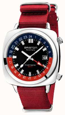 Briston Clubmaster gmt limited edition | auto | rode nato riem 19842.PS.G.P.NR