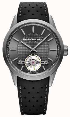 Raymond Weil Heren | freelancer automatische grijze wijzerplaat | zwarte rubberen band | 2780-TIR-60001
