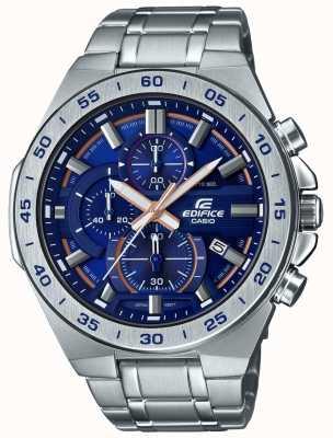 Casio | gebouw chronograaf | roestvrijstalen armband | blauwe wijzerplaat EFR-564D-2AVUEF