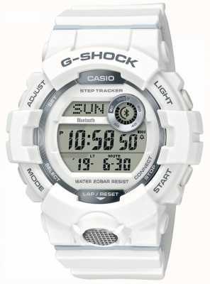 Casio | g-shock | sporthorloge, stapvolger | witte rubberen riem GBD-800-7ER