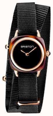 Briston | clubmaster dame | enkele zwarte NAVO-riem | schildpaddenschild 19924.PRA.T.1.NB- SINGLESTRAP