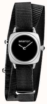 Briston   clubmaster dame   enkele zwarte NAVO-riem   zwarte wijzerplaat   19924.S.M.1.NB